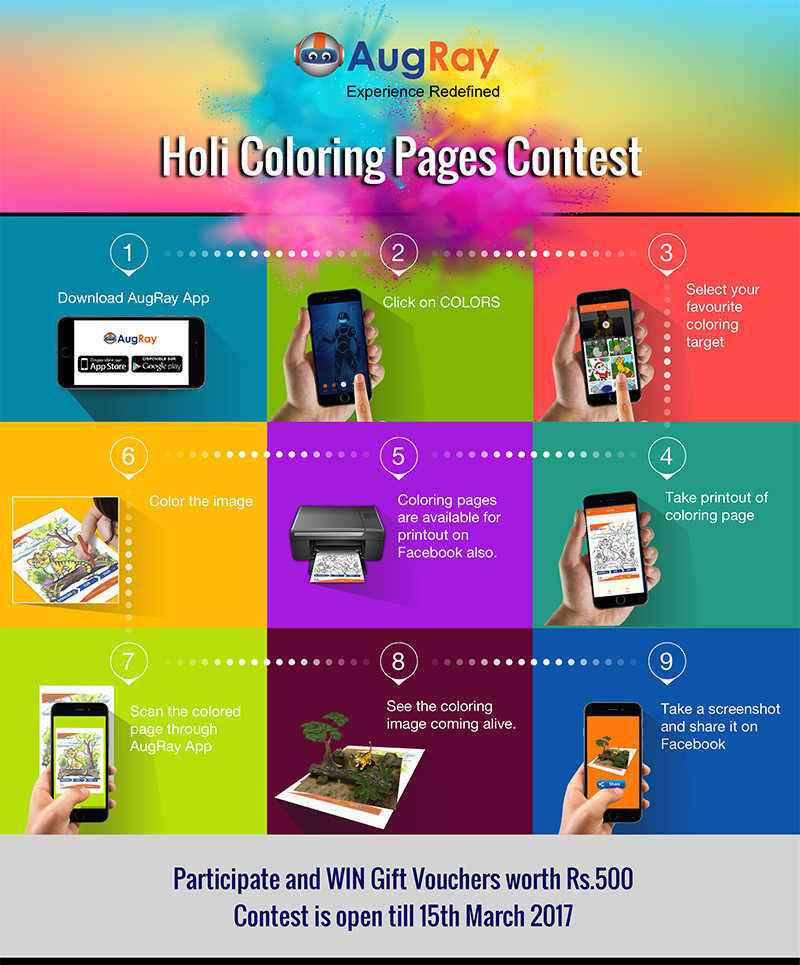 AugRay Holi Coloring Page Contest