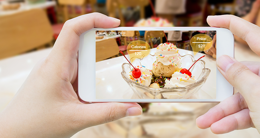 AR - Augmented Reality play a major role in food sectors
