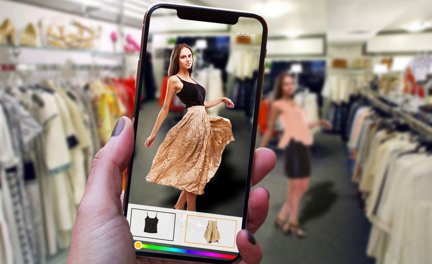 Augmented reality ads in store